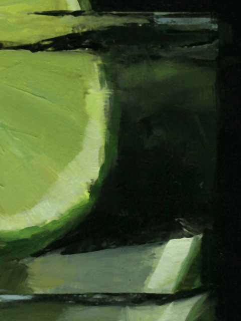 Tom Giesler, 'Floral 56: organic lime', 2021, Painting, Oil on panel, McVarish Gallery