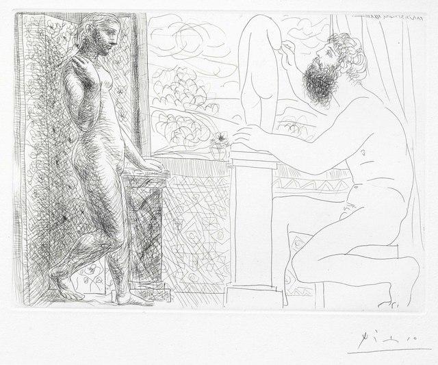 Pablo Picasso, 'Sculpteur et son modèle devant une fenetre, from La Suite Vollard', 1933, Print, Etching, on Montval paper, Christie's