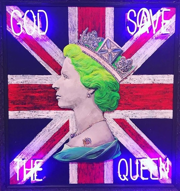 , 'God save the Queen,' 2018, Reem Gallery