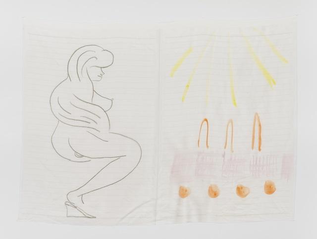 , 'Late Checkout (lady),' 2015, Simone Subal
