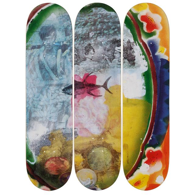 Robert Rauschenberg, 'Sri Lanka VI Skateboard Deck', 2017, Sculpture, 7-ply Canadian Maplewood with screen-print, Artware Editions