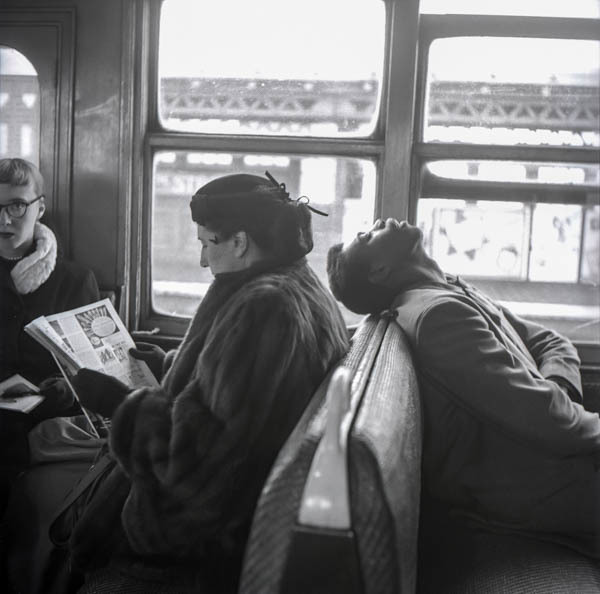 , 'Asleep on the Subway Train,' 1947, Galerie Thierry Bigaignon