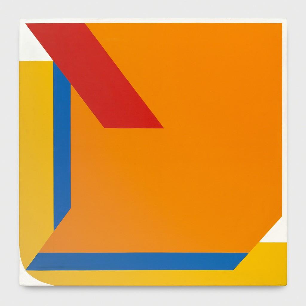 Georg Karl Pfahler Espan Nr. 10 1975 acrylic canvas 170 x 170 cm