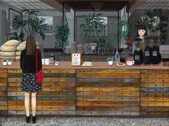 , 'Cafe Anthracite,' 2016, Flower Pepper Gallery