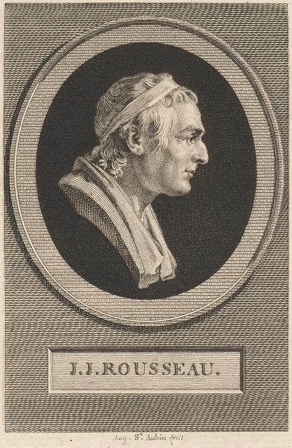 Augustin de Saint-Aubin after Jean-Antoine Houdon, 'Jean-Jacques Rousseau', 1801, Print, Engraving over etching on laid paper, National Gallery of Art, Washington, D.C.