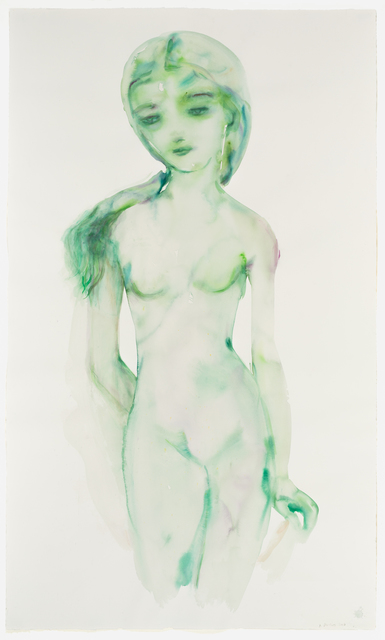 , 'Green Girl with Veil,' 2017, David Klein Gallery