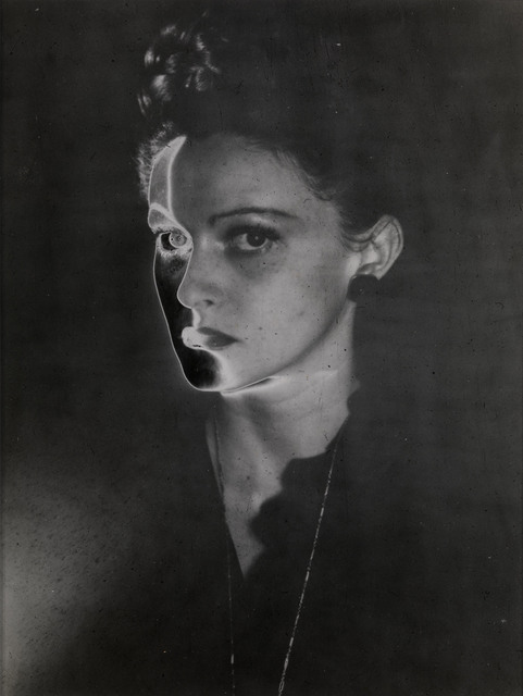 , 'Solarised Portrait, New York,' 1947, Osborne Samuel