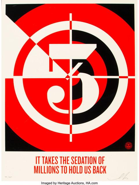 Shepard Fairey, 'Sedation of Millions', 2012, Heritage Auctions