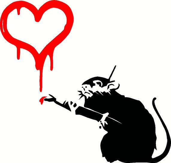 Banksy, 'Love Rat', 2004, Taglialatella Galleries