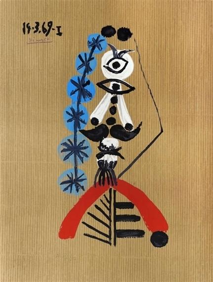 Pablo Picasso, 'Portraits Imaginaires - 14.3.69.I', 1970-1971, Galerie Montmartre