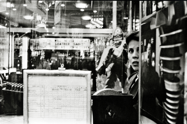 Frank Paulin, 'Movie Ticketseller, Times Square', 1957, Bruce Silverstein Gallery