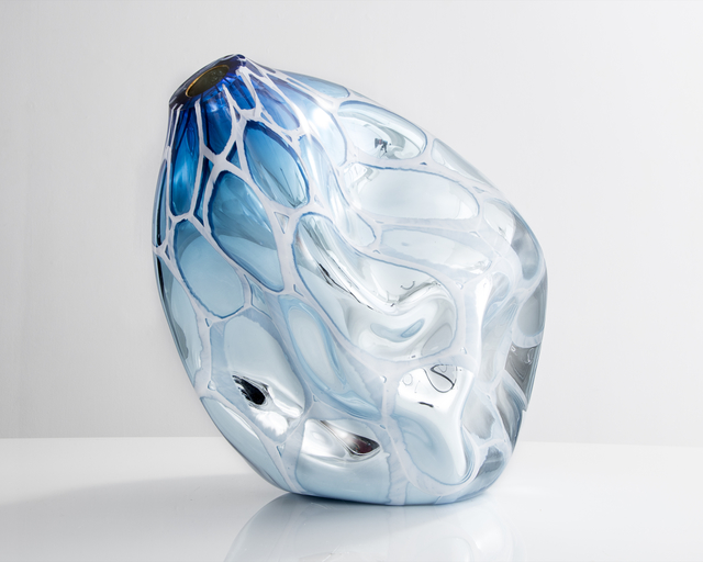 , 'Unique Mirroring Dented Murrine vessel in hand-blown glass,' 2015, R & Company