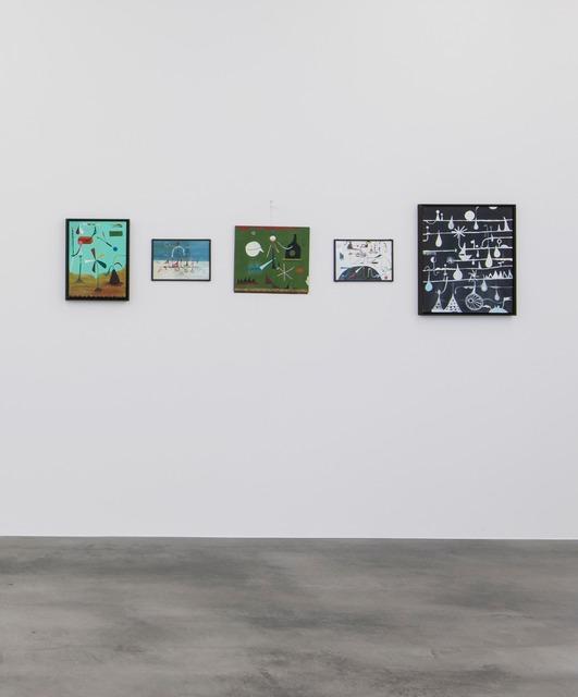 , 'Der Enzyklopädist // Reisemaschinensachlichkeit II // Nimm Flügel // Was ist das Ziel von alledem? // Mein Dein Regentag,' 2014, Kunstverein Reutlingen