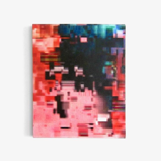 Konrad Wyrebek, 'Pinkey(fvk)', 2018, Painting, Oil and acrylic paint, uv ink, spray paint and varnish on canvas, The Dot Project