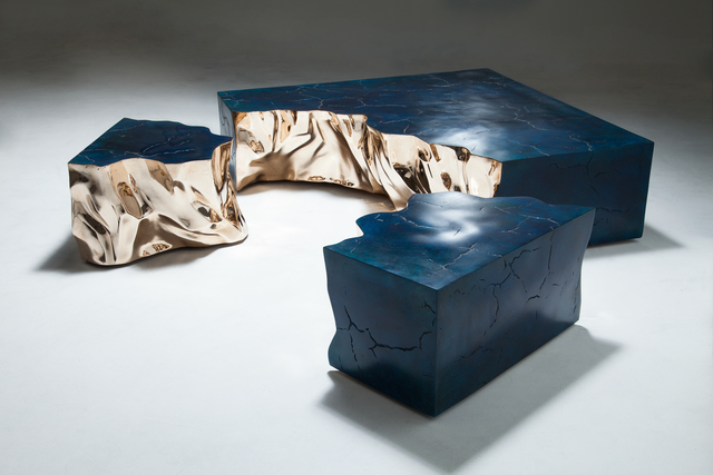 , 'Fragmented Crack Blue,' 2015, Maison Gerard
