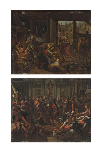 , 'Death visiting the poor; and A house of ill-fame,' , Christie's Old Masters