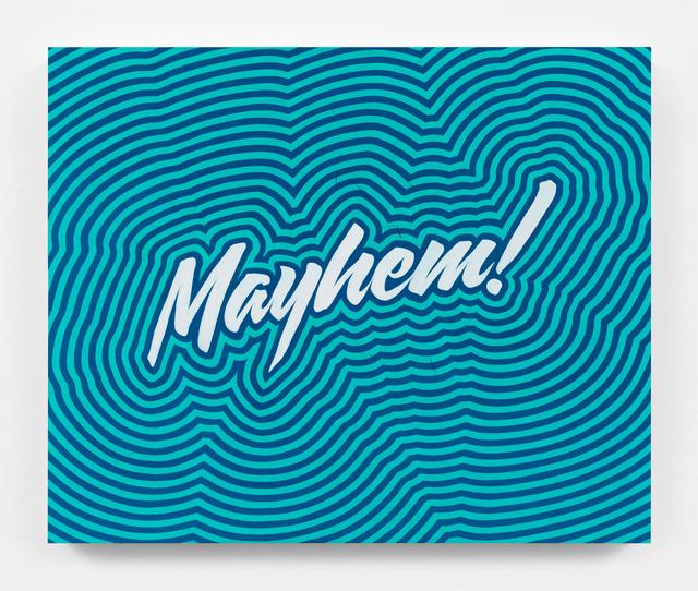, 'Mayhem (Large Blue Throb),' 2018, Gavlak