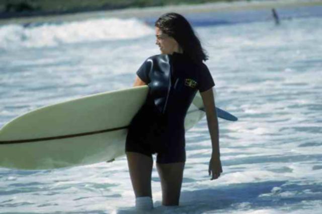 , 'Minnie Cushing Surfing,' 1965, IFAC Arts