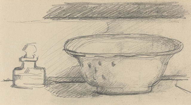 Paul Cézanne, 'Wash Basin and Scent Bottle [recto]', 1877/1881, Drawing, Collage or other Work on Paper, Graphite, National Gallery of Art, Washington, D.C.