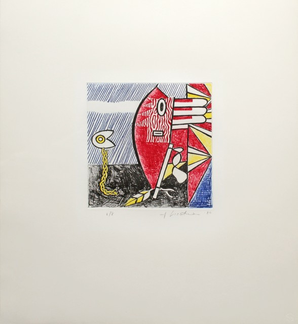 Roy Lichtenstein, 'Untitled II (Cortlett 179)', 1980, Print, Colour etching printed from four copper plates Support white, wove, machine mould made, Lana paper, DANE FINE ART