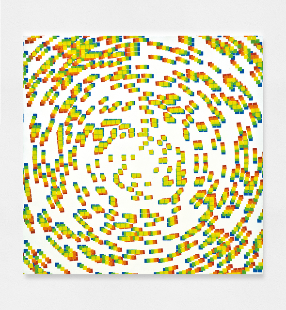 , '5 impressions décalées: bleu, vert, jaune, orange et rouge,' 1969, The Mayor Gallery