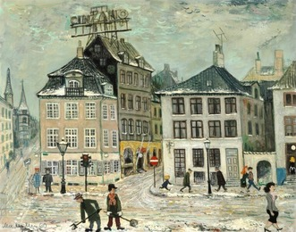 Street scene, Copenhagen. Corner of Nyhavn and Bredgade
