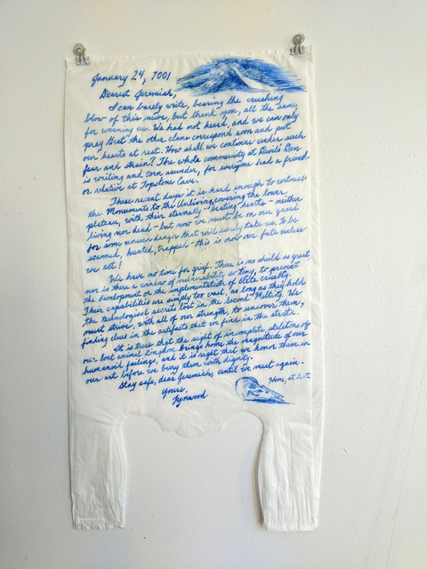 , 'Letter, January 24, 7001,' 2015, Emerge Gallery NY