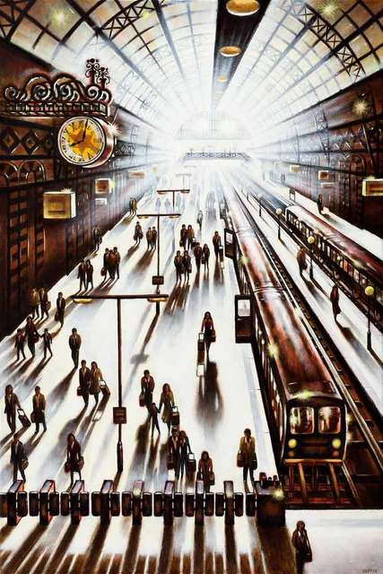 , 'Another Arrival - King's Cross St Pancras Station,' 2018, Catto Gallery