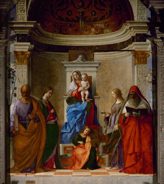 Giovanni Bellini, 'San Zaccaria Altarpiece, Sacra Conversazione,' 1505, Erich Lessing Culture and Fine Arts Archive