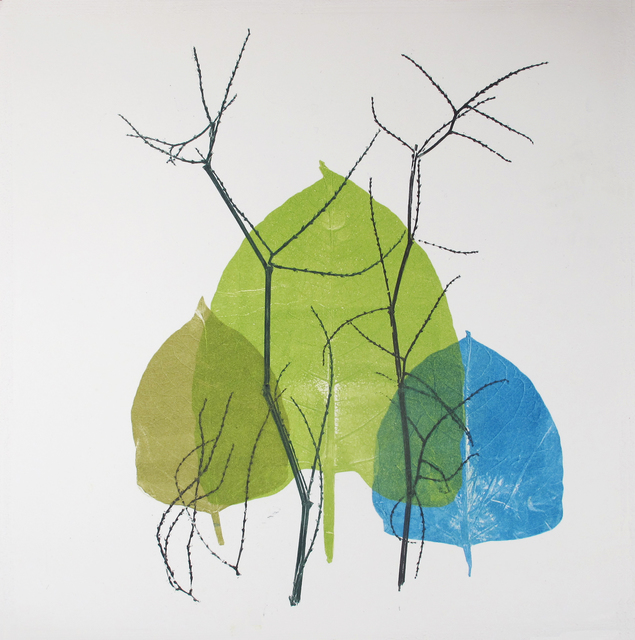 Luca Cruzat, 'Winter to Spring I', 2020, Print, Collagraph on arches paper, Karin Weber Gallery
