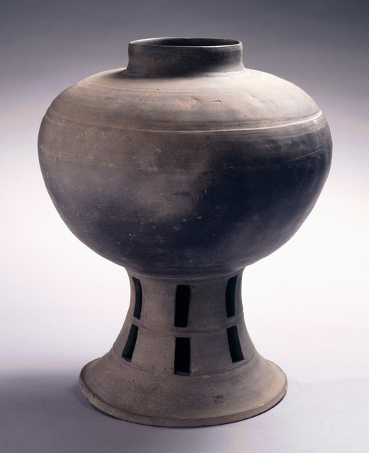 , 'Jar with Pierced Pedestal,' 43 - 562, Newark Museum