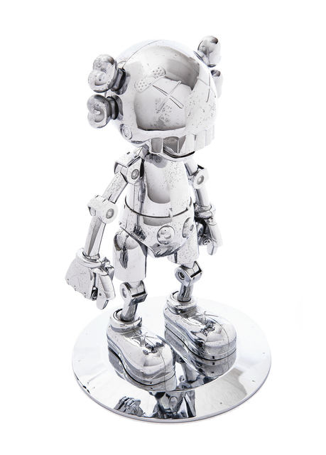 KAWS, 'No Future Companion (Silver Chrome)', 2008, Sculpture, Fully pose-able metal sculpture, Tate Ward Auctions