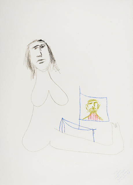 , '(Woman with flag - Study for sculpture),' 1980s, Charles Nodrum Gallery
