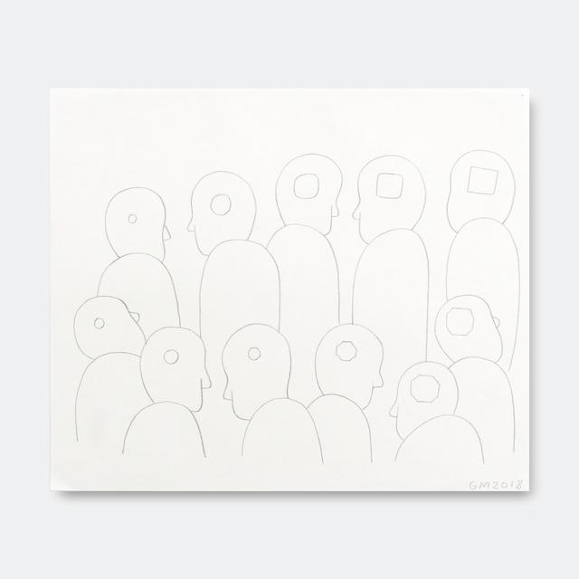 Geoff McFetridge, 'Conga Line of Heads Shape Min', 2018, V1 Gallery