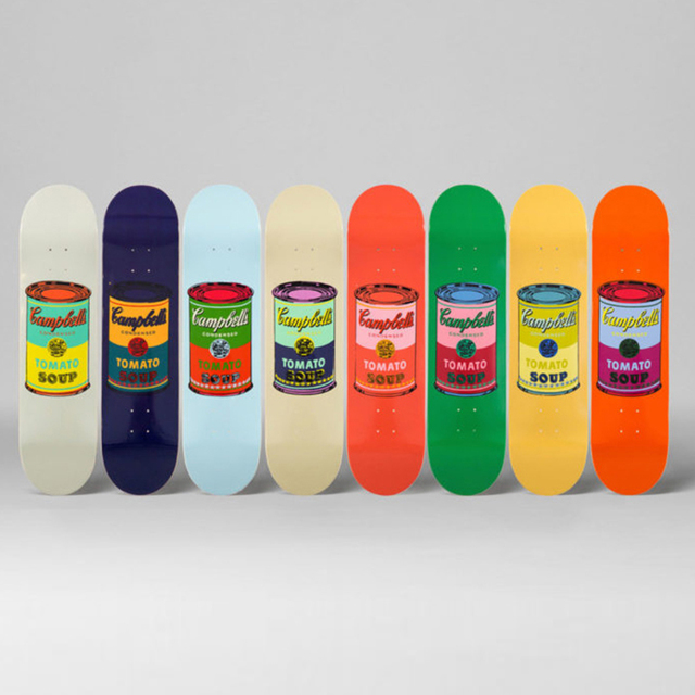 Andy Warhol, 'Colored Campbell's Soup (Blood) Skateboard Deck', 2017, Ephemera or Merchandise, 7-ply Canadian Maplewood with screen-print, Artware Editions