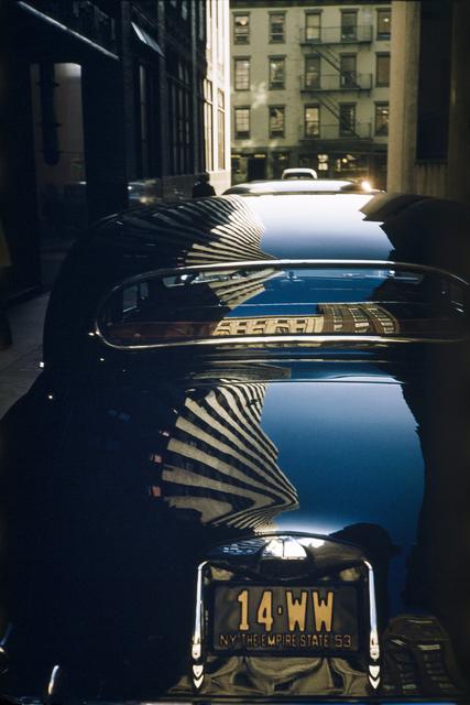 Werner Bischof, 'Reflection on a Jaguar, New York, USA', 1953, Photography, 2019 Super Chromogenic print, David Hill Gallery