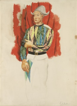 Pablo Picasso, 'Harlequin', ca. 1919-1920, Painting, Watercolor, Yale University Art Gallery