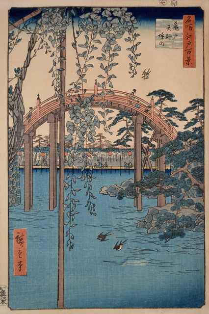 , 'Tenjin Shrine at Kameido,' 1856, Ronin Gallery