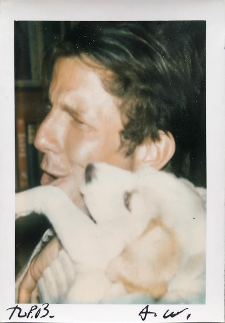 Peter Beard, 'Peter Beard and Andy Warhol with dog', ca. 1972, Atlas Gallery