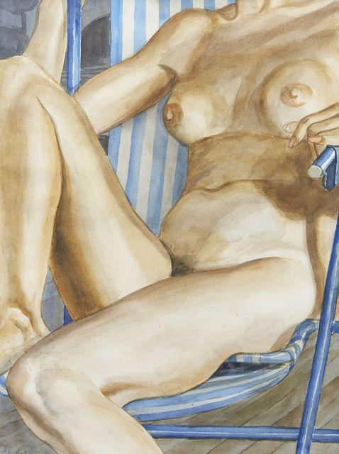 Philip Pearlstein, 'Seated female nude', 1986, Roseberys