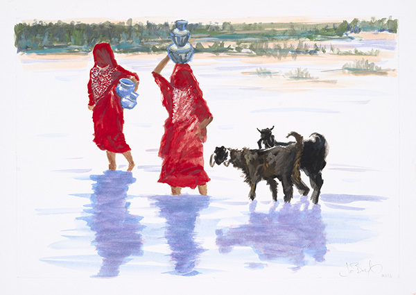 , 'Water Gatherers - Chhari Dhand,' 2016, MARS