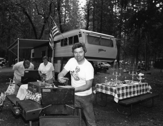 , 'Every summer we go all out on our camp in Yosemite. I do the barbecuing.,' 1976, PDNB Gallery