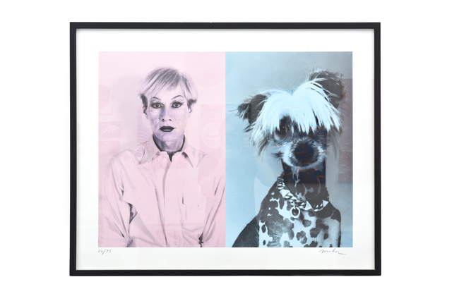 Christopher Makos, 'Andy  Warhol and Chinese  crested', ca. 1980, Casa Mondo Gallery