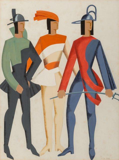 Alexandra Exter, 'Trois Hommes - Don Juan', 1929, Heritage Auctions