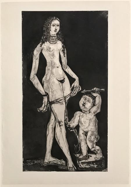 , 'Venus et l'amour, d'après Cranach,' 1949, John Szoke