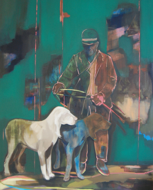 , 'Man with Dogs ,' 2015, Purdy Hicks Gallery