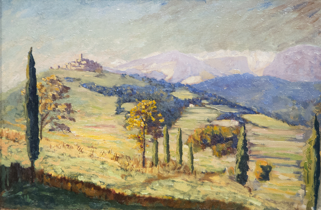 , 'A Distant View of Eze,' ca. 1930, Heather James Fine Art