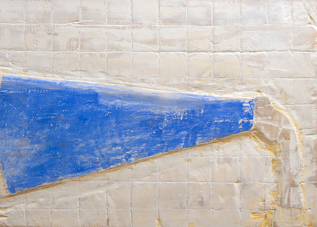 Raúl Díaz, 'EL CONO AZUL', 2018, Painting, Mixed Media on Wood Panel, Jerald Melberg Gallery