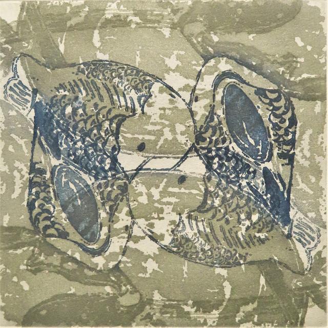 Monica Chivas, 'Blue & White on the pond 1', 2020, Print, Etching, Open Bite Printmakers