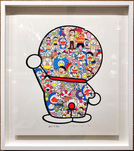 Takashi Murakami, 'Doraemon: Mr. Fujiko F. Fujio and Doraemon Are in the Fields', 2019, Lex Art Gallery